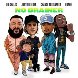 DJ Khaled「No Brainer ft. Justin Bieber, Chance the Rapper, Quavo」ジャケ写